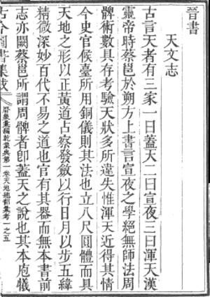 Gujin Tushu Jicheng - A page from the Gujin Tushu Jicheng.