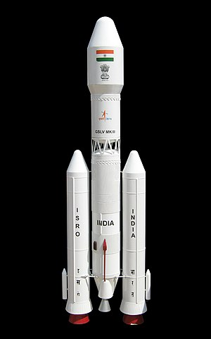 Geosynchronous Satellite Launch Vehicle Mark III - An artist's rendering of the GSLV Mk.III