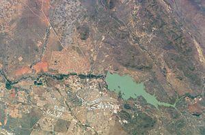 Gaborone - Satellite View of Gaborone