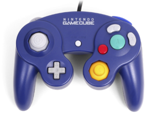 GameCube controller Video game controller for the Nintendo GameCube