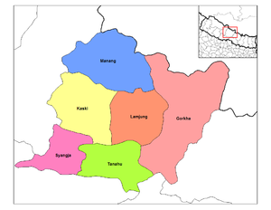 Gandaki Zone - Image: Gandaki districts