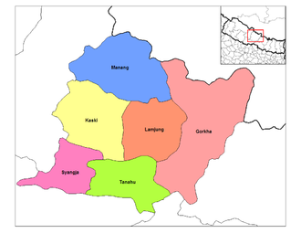 Gandaki Zone - Image: Gandaki districts