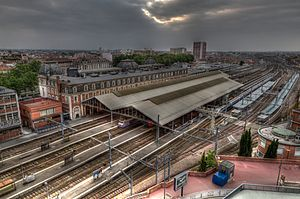 Gare de Toulouse-Matabiau - Trainshed and platforms
