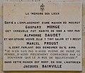 Gaspard Monge, Alphonse Daude et Marcel Proust plaque - 31 rue de Bellechasse, Paris 7.jpg