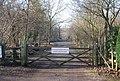 Gate across New Rd, West Blean Wood - geograph.org.uk - 1143179.jpg