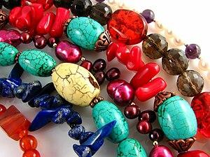 English: Gemstone Necklaces