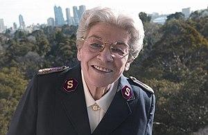 Eva Burrows - Eva Burrows at The Salvation Army's Australia Southern Territory Training College