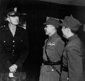 Albert Coady Wedemeyer - General Wedemeyer arriving in Chungking, 1944.