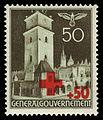 Generalgouvernement 1940 54 Rotes Kreuz, Rathausturm in Krakau.jpg