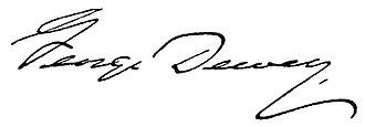George Dewey - Image: George Dewey signature