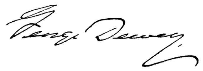 George Dewey signature