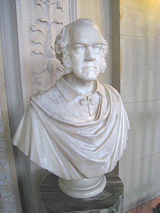 Boston Public Library - Bust of George Ticknor