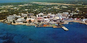 George Town, Cayman Islands - An aerial view of George Town in 1996