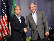 Bush con Calderón