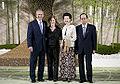 George W Bush Laura Bush Kiyoko Fukuda and Yasuo Fukuda 20080707.jpg