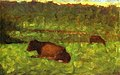 George seurat - Cows in field PC 55.jpg