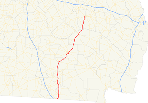Georgia State Route 135 - Image: Georgia state route 135 map