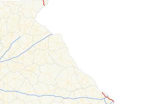 Georgia State Route 28 - Image: Georgia state route 28 map