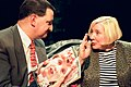 Gerard Casey and Fay Weldon appearing on After Dark in 1997.jpg