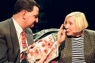 Fay Weldon - Appearing with Gerard Casey on British television discussion programme After Dark in 1997