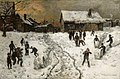 Gerhard Munthe - Throwing Snowballs - NG.M.00833 - National Museum of Art, Architecture and Design.jpg