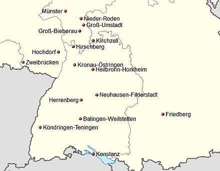 Germany location map Handball 3. Liga Süd 2012-13 v2.jpg