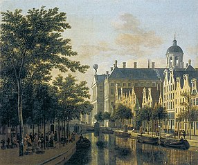 The Nieuwezijds Voorburgswal with the Flower Market, Amsterdam