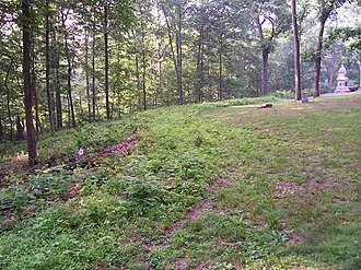 7th Ohio Infantry - Position of the 7th Ohio on Culp's Hill on 3 July 1863.