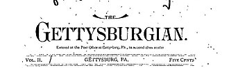 The Gettysburgian - Image: Gettysburgian masthead