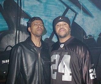 Ghettotech - DJ Assault (right) with DJ Funk (left).