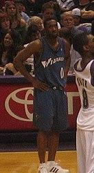 Gilbert Arenas in Washington Wizards uniform.