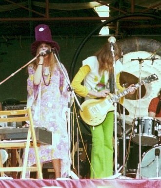 Gong (band) - Gilli Smyth and Daevid Allen, Hyde Park, 1974
