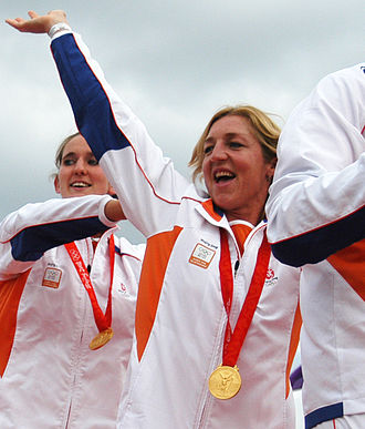 FINA Women's Water Polo World Cup - Gillian van den Berg won the competition in 1999 as part of the Dutch team. In the photo she is seen celebrating her gold medal at the 2008 Summer Olympics.