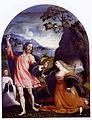 Giovanni Antonio de Sacchis (Pordenone) - Noli me tangere - 1524 - Museo Cividale (Contrasto 33).jpg