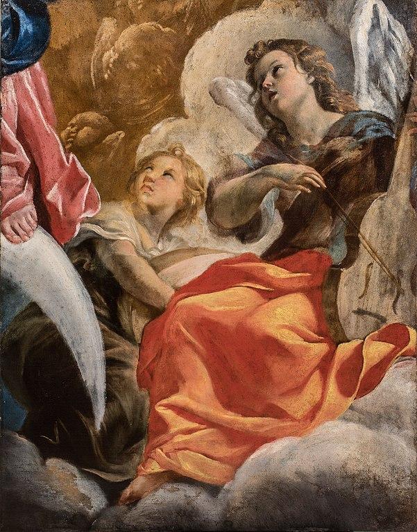 File giovanni lanfranco angeli musicanti immacolata for Quadri con angeli