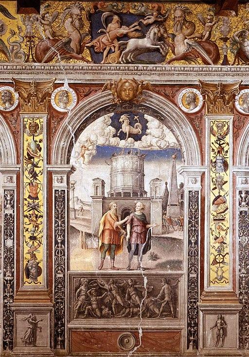 Giovanni Maria Falconetto, Mantua, Palazzo d'Arco, Sala dello Zodiaco, Sign of Capricorn