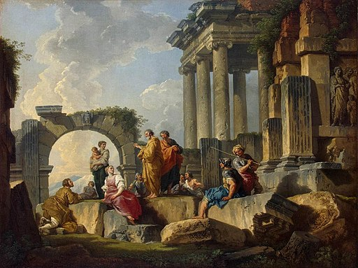 Giovanni Paolo Pannini - Apostle Paul Preaching on the Ruins - WGA16977
