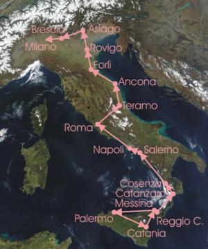 1930 Giro d'Italia - Race Route