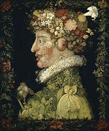 Primavera, dipinto di Giuseppe Arcimboldo (Museo del Louvre, Parigi)