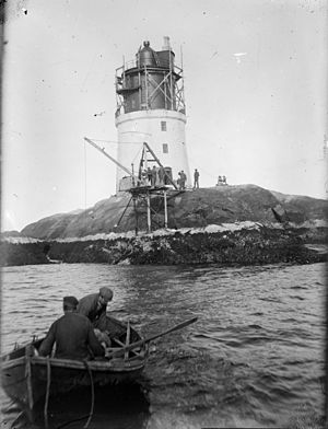 Gjeslingene Lighthouse - Gjeslingene Lighthouse ca. 1900 – 1910