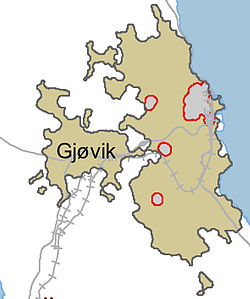 kart over gjøvik Gjøvik – Wikipedia kart over gjøvik