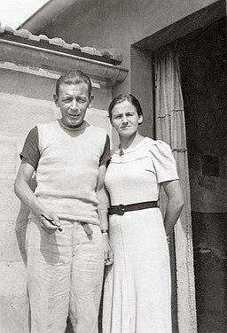 Friedrich Glauser i Berthe Bendel w La Bernerie, lato 1937