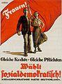 Gleiche Rechte Gleiche Pflichten, social democrat party poster 1919.jpg
