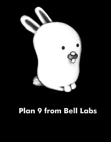 Glenda bunny mascot of plan 9 from bell black.jpg