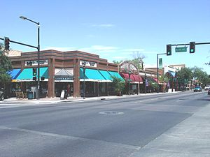 Glendale, Arizona - Downtown Glendale, Arizona as viewed from the intersections of Glendale Ave. and 58th Ave.
