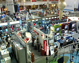 Glorietta - A shot of the central atrium area during an electronics event