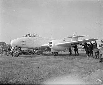 Gloster Meteor - Gloster Meteor being deployed in March 1945