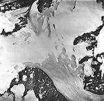Godwin Glacier, firn line of a mountain glacier, and jagged folia, August 27, 1963 (GLACIERS 6525).jpg