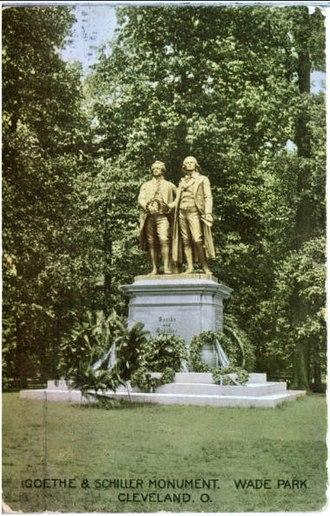 Goethe–Schiller Monument - Image: Goethe Schiller Cleveland 00543