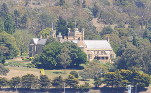Government House, Hobart - Government House viewed from the River Derwent